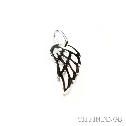 Sterling Silver 925 Angel Wing Charm