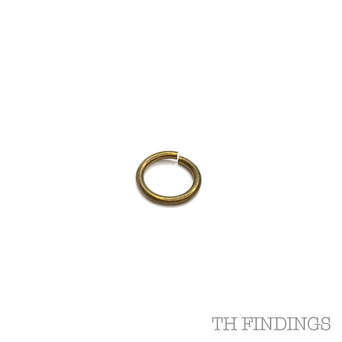 12mm Brass Base Metal 1.5mm Wire Jump Ring