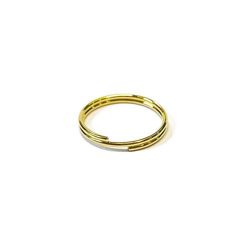 13mm Split Ring Gold Plated Keyring