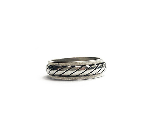Sterling Silver 925 Antique Finish Spinning Ring