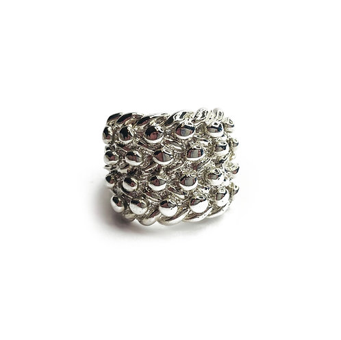 Sterling Silver 925 Statement Heavy Keeper Ring