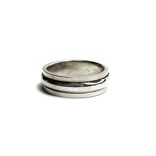 Sterling Silver 925 Minimalist Modern Spinner Ring