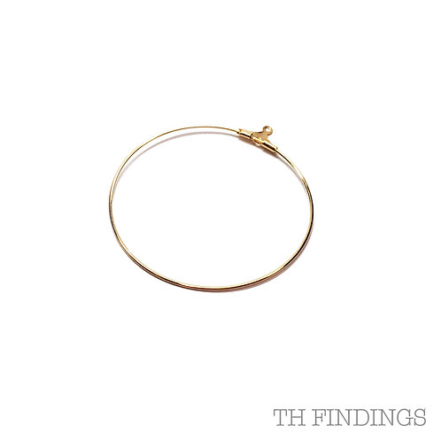 40mm Bead Hoop in Plated Finishes