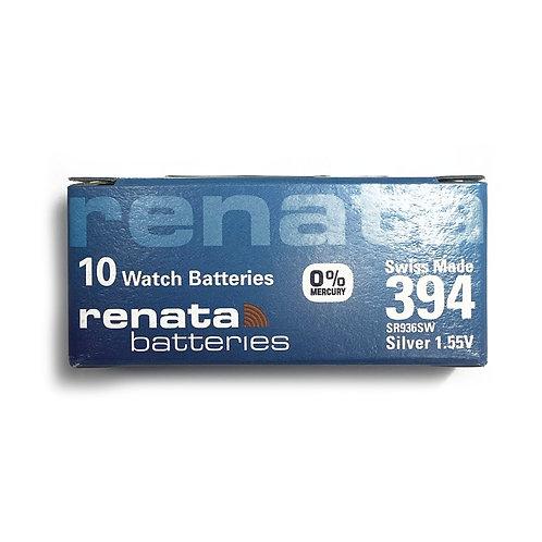 10 x Renata 394 Watch 1.55V Batteries Swiss Made SR936SW