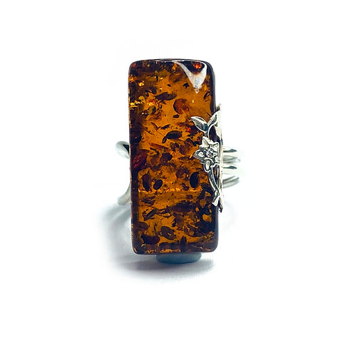 Sterling Silver 925 Amber Ring