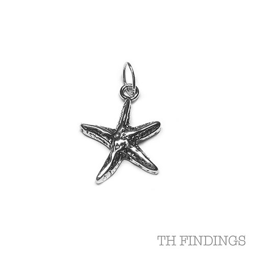 Sterling Silver 925 Starfish Charm