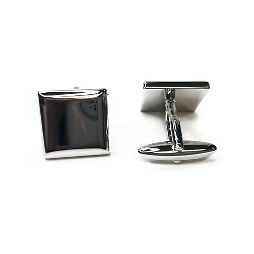 Boxed Silver Plated Square Cufflinks