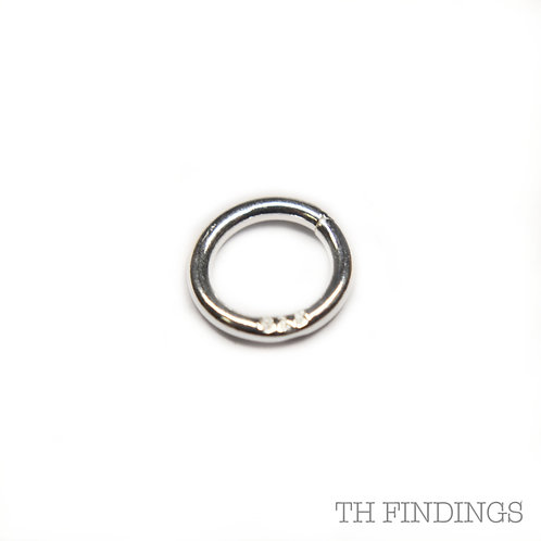 6mm Sterling Silver Soldered Jump Ring