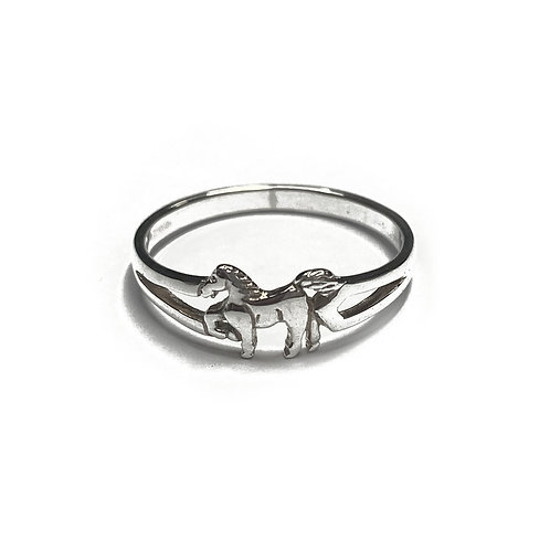 Sterling Silver 925 Equestrian Horse Riding Ring