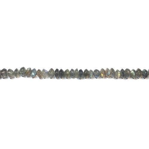 5mm  Labradorite Semi Precious Bead Strand