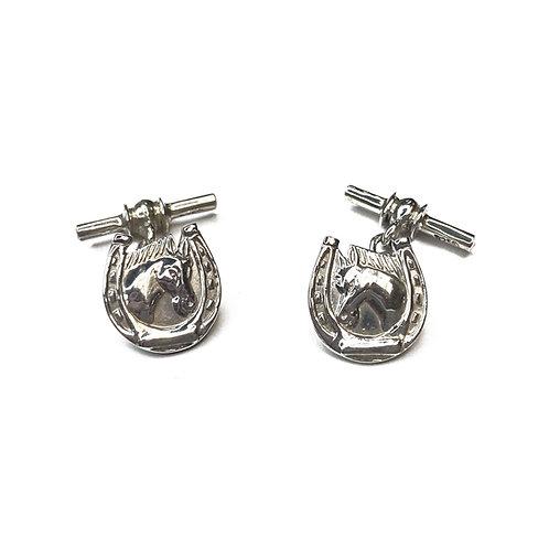 Sterling Silver 925 Horseshoe Cufflinks