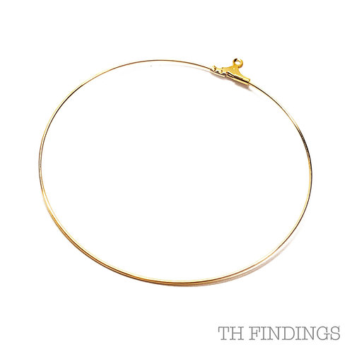 55mm Bead Hoop in Gold Plated Finish