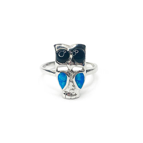 Synthetic Opal Owl Ring