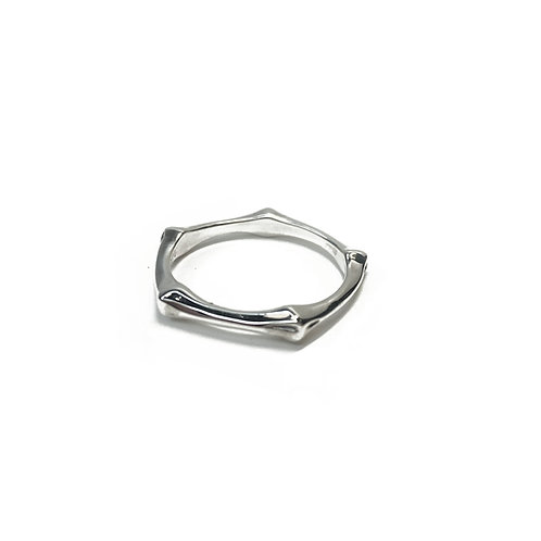 Sterling Silver 925 Bamboo Ring