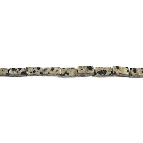 9x4mm Dalmation Stone Semi Precious Bead Strand