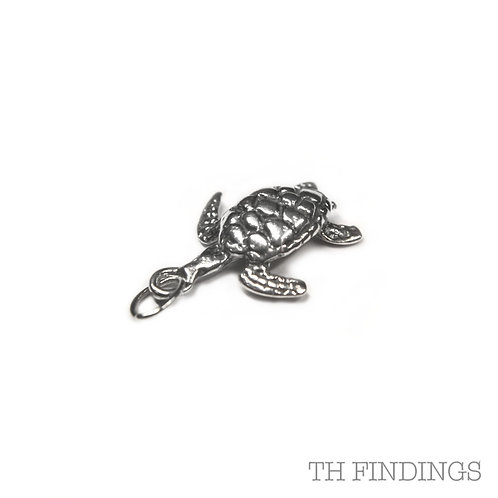 Sterling Silver 925 Turtle Charm