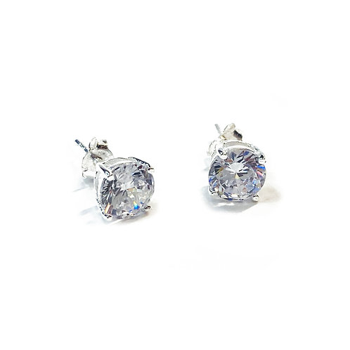 Sterling Silver 925 7mm CZ Boxed Studs