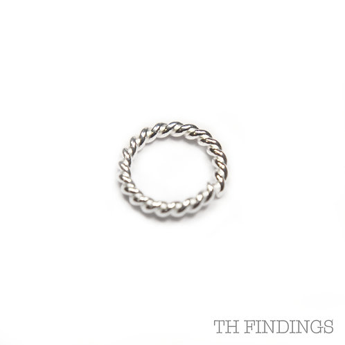 5mm Sterling Silver Twisted Jump Ring
