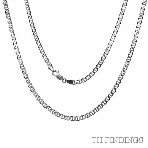 "Sterling Silver 925 18"" 0.8mm Marina Chain"