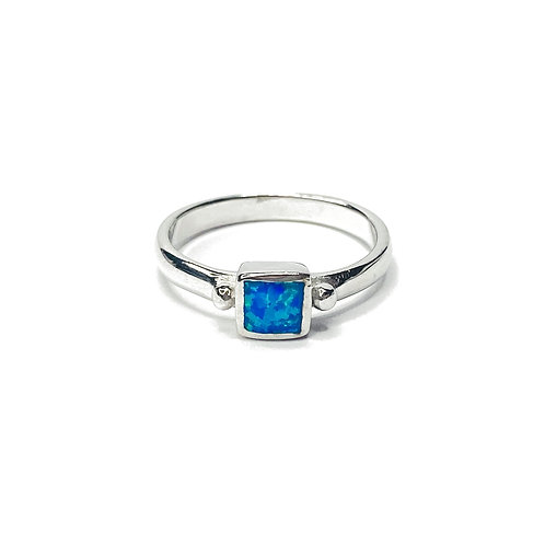 Synthetic Opal Square Ring