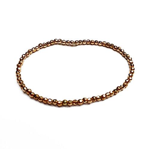 Sterling Silver 925 Rose Gold Plated Stretch Bracelet