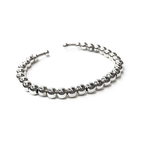 Sterling Silver 925 Ball Bead Bangle