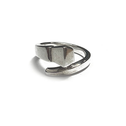 Sterling Silver 925 Industrial Nail Ring