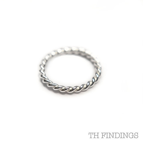 7mm Sterling Silver Twisted Jump Ring