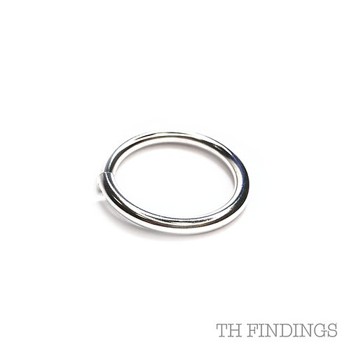 28mm Base Metal Jump Ring in Plated Finish