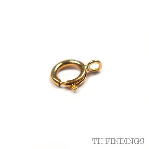 9ct Gold 6mm Bolt Ring Clasp
