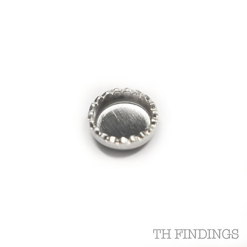 Sterling Silver 925 4mm Collet