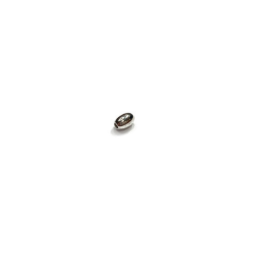 Sterling Silver 925 3x5 Oval Ball Bead