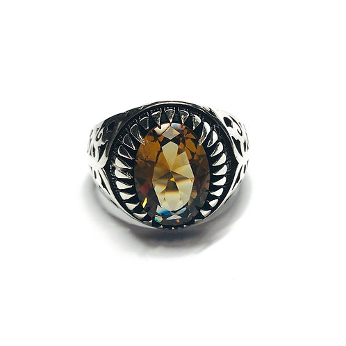 Sterling Silver 925 Topaz Cubic Zirconia Ring