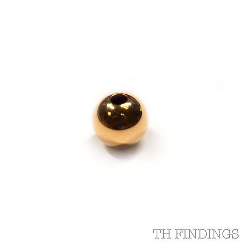 9ct Gold 5mm Through Hole Ball