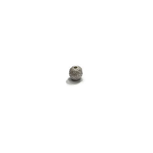 Sterling Silver 925 5mm Through Hole Diamante Bead