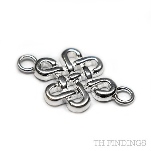 Sterling Silver 925 Celtic Style Spacer Charm