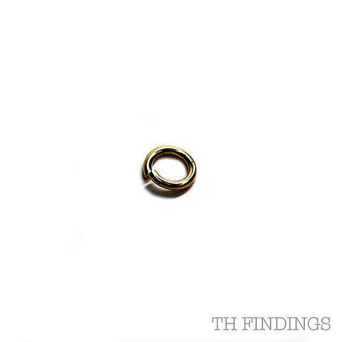 7mm Base Metal 1.2mm Wire Jumprings in Plated Finish