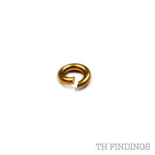9ct Gold 4mm Open Jump Ring 0.76mm Wire