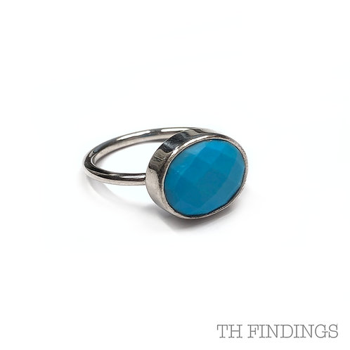 Turquoise Precious Sterling Silver Ring