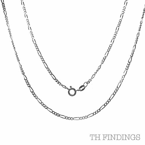 "Sterling Silver 925 22"" Figaro Chain"
