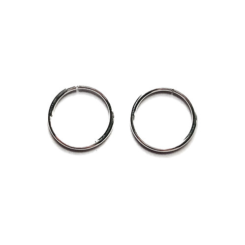 Sterling Silver 1mm Wire Sleeper Earrings in Various Sizes