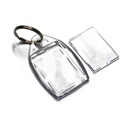 Clear Plastic Photo Key Fob Insert 35mm x 24mm Keyring