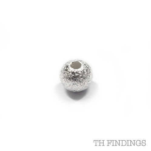 Sterling Silver 925 4mm Through Hole Bead