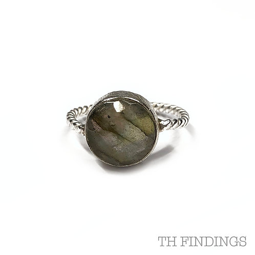 Smoky Quartz Precious Sterling Silver Ring - Size Q
