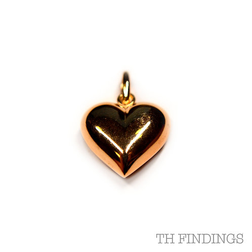 Sterling Silver 925 Rose Gold Heart Pendant