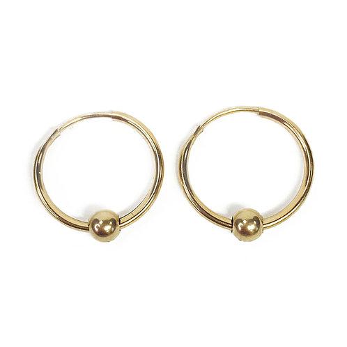 9ct Gold Sleeper Hoops