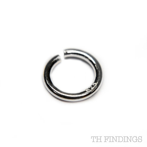 Sterling Silver 925 7mm Jump Ring 1mm Wire