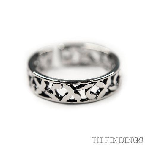 Sterling Silver 925 Adjustable Filigree Ring