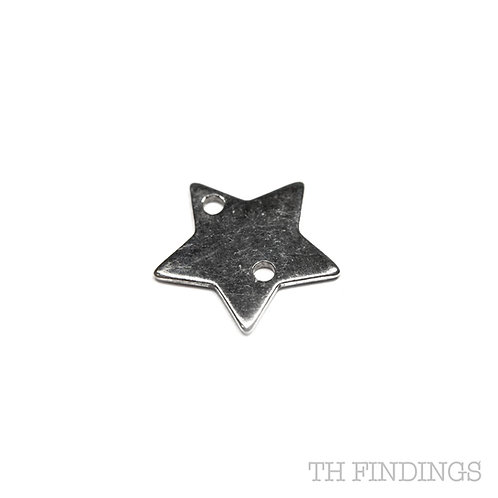 Sterling Silver 925 2 Hole 5 Point Star