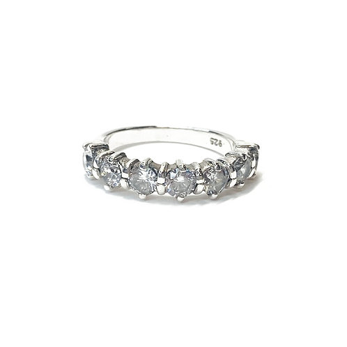 Sterling Silver 925 7 Stone CZ Ring